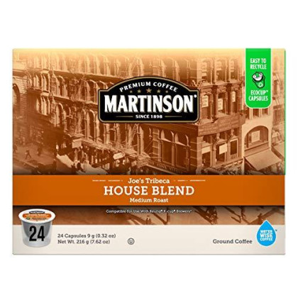 Martinson Single Serve Coffee cpsules, House Blend, 24 Count