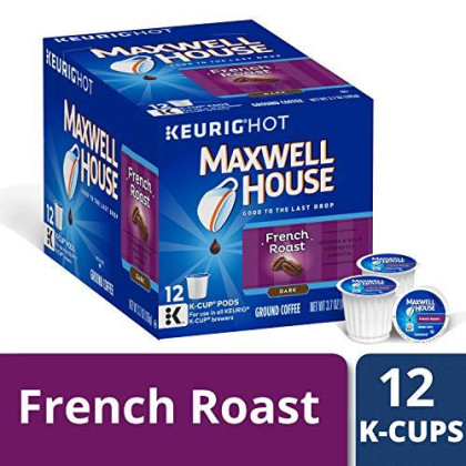 Maxwell House Dark Arabica French Roast Coffee K Cup Pods, 12 ct - K-Cup Pods, 3.7 oz Box