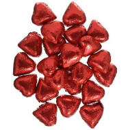 Sweetworks Foil Wrapped Hearts, Red Niagara, 10 Pound
