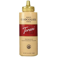 Torani White Chocolate Sauce 16.5 OZ (Pack of 4)