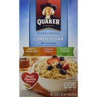 Quaker Instant Oatmeal, 3 Flavors LOWER SUGAR, 4 Maple Brown Sugar, 2 Cinnamon Spice, 4 Apple Cinnamon, 10 Servings, 11.5 oz box (2 Pack)