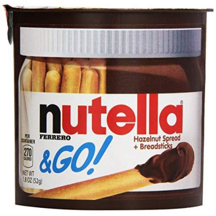 Ferrero Nutella &Amp; Go Hazelnut Spread With Breadsticks, (24 Count)