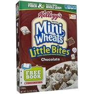 Kellogg's Frosted Mini Wheats Chocolate Little Bites Cereal 15.2 oz (Pack of 10)