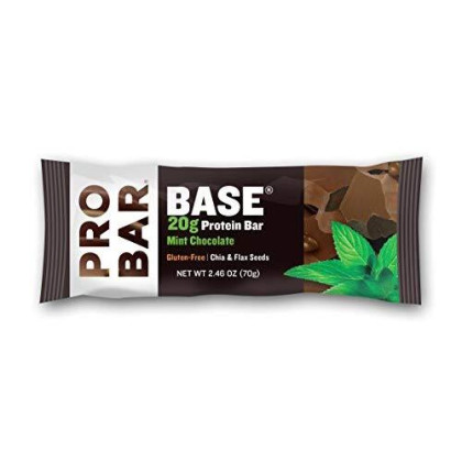 Probar - Base 2.46 Oz Protein Bar, Mint Chocolate, 12 Count - Gluten-Free, Plant-Based Whole Food Ingredients
