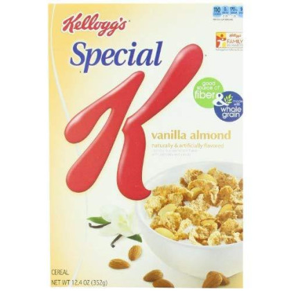Kellogg's Special K Cereal, Vanilla Almond, 12.4 Ounce (Pack of 4)