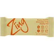 Zing Vital Energy Nutrition Bar, Peanut Butter Chocolate Chip, (12 Bars), High Protein, High Fiber, Low Sugar, Chunky Peanut Butter, Real Dark Chocolate Chips, Soft Cookie Dough