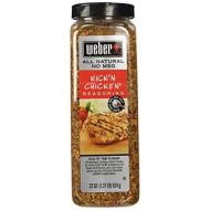 Weber Kick'N Chicken Seasoning 22 Oz. Made With Sea Salt - No Msg - Gluten Free - Perfect For Grilling