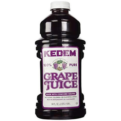 Kedem 100% Pure Kosher Grape Juice for Passover & All Year Round, Plastic Bottle, Healthy & Delicious, Refreshing Taste, Half gallon, 64 oz