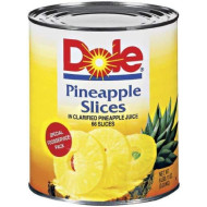 Dole Pineapple Slices in Juice, 107 Ounce Cans (Pack of 6)