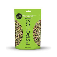Wonderful Pistachios, No-Shell, Roasted And Salted, 12 Ounce Resealable Bag