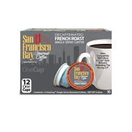 San Francisco Bay Onecup, Decaf French Roast, 12 Count- Single Serve Coffee, Compatible With Keurig K-Cup brevers