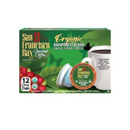 San Francisco Bay Onecup, Organic Rainforest Blend, 12 Count- Single Serve Coffee, Compatible With Keurig K-Cup brevers