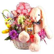 Gift Basket Village - The Cottontail Collection, Deluxe Easter Basket For A Girl (Pink)