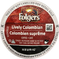 Folgers Single Serve Coffee - Lively Colombian - 80 K-Cups (Single Serve Portion Packs Designed For Use With Keurig brevers) - Packaging May Vary