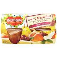Del Monte Cups Cherry Mixed Fruit, 16 Count