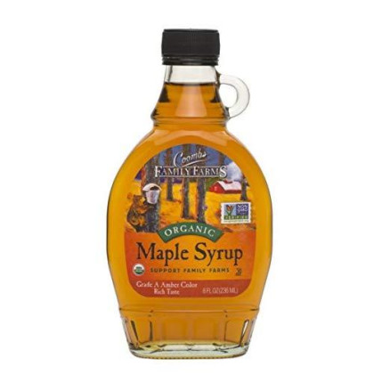 Coombs Family Farms 100% Pure Organic Maple Syrup Grade A Amber Rich, 8Oz