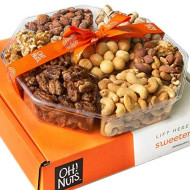 Oh! Nuts Christmas, Gourmet Nut Gift Baskets, Jumbo 2Lb 7 Variety Holiday Freshly Roasted Tray, Thanksgiving Mothers &Amp; Father'S Day Gifts, Prime Basket Idea For Men &Amp; Woman Birthday, Sympathy
