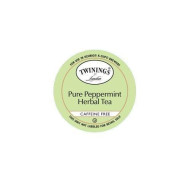 TWININGS PURE PEPPERMINT TEA caffene FREE K CUPS 96 COUNT