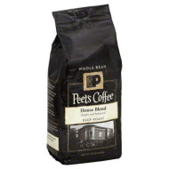 Peets Whole Bean Coffee Deep Roast 12 Fl Oz (Pack Of 4) (House Blend)