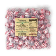 Yankee Traders Hard Candy Balls, Peppermint Striped, 2 Pound