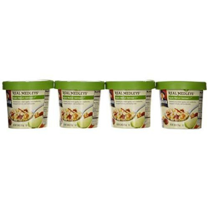 Quaker Real Medleys Apple Walnut Oatmeal, 2.64 Oz (Pack Of 4)