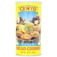 Cento Plain Bread Crumbs, 15 Ounce Can (Pack Of 12)