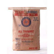 All Trumps Bleached Bromated Enriched Malted High Gluten Flour, 25 Pound - 1 Each.