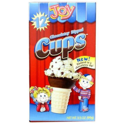 Joy Chocolate Dipped Cup, 12 Count (Pack of 12)