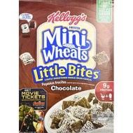 Kellogg'S Frosted Mini Wheats, Chocolate, Little Bites Cereal, 15.2 Ounce Box (4-Pack)