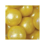 "Yellow Shimmer 1"" Gumballs, 2Lbs"