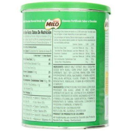 Nestle Milo, Chocolate Flavored, 14.1 Ounce Unit (Pack Of 12)