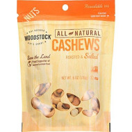Woodstock Bg19715 Woodstock R-S Lrg Whole Cashews - 8X6Oz