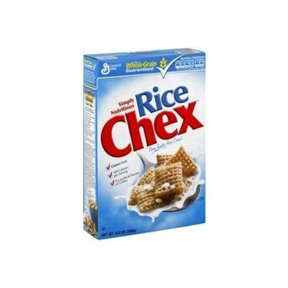 General Mills, Chex, Rice Chex, Gluten Free, Oven Toasted Rice Cereal, 12.8oz Box (Pack of 4)