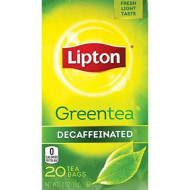 Lipton Green Tea Decaffeinated 20 Count (Pack Of 6)