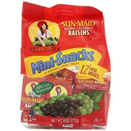 Sun-Maid Natural California Raisins Mini-Snacks, 12 Count, 6 Oz (Pack Of 6)