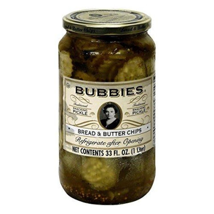 Bubbies Chips, Bread & Butter 33.0 OZ(Pack of 2)