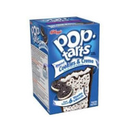 Kellogg'S, Pop-Tarts, Frosted Cookies & Cream Toaster Pastries, 8 Count, 14.1Oz Box (Pack Of 6)