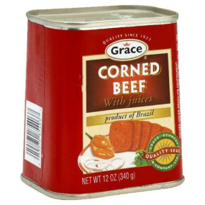 Grace Corned Beef, 12-Ounce Cans (Pack of 4)