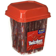 Twizzlers Licorice Candy, Strawberry, 33.3 Ounce Tub