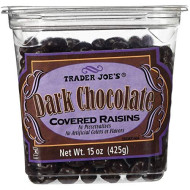 Trader Joes Dark Chocolate Covered Raisins