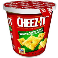 Cheez-It Baked Snack Cheese Crackers in a Cup, White Cheddar, Single Serve, 2.2 oz(Pack of 10)