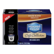 Maxwell House Cafe Collection House Blend Medium Roast Coffee, 12 Count, 3.7 Oz