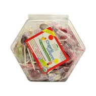Yummyearth Lolli Pop Cntr Bin 125pc Org