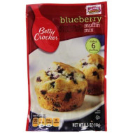 Betty Crocker Baking Mix, Blueberry Muffin Mix, 6.5 Oz Pouch (Pack Of 9)