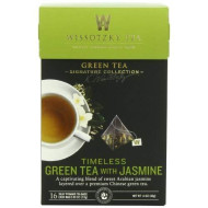 Wissotzky Tea Signature Collection Timeless Green Tea, Jasmine, 1.41 Ounce