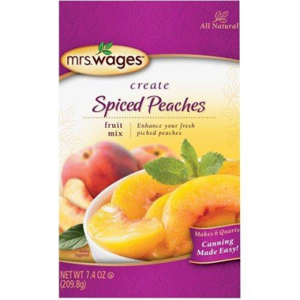 Mrs Wages Spiced Peach Mix-7.4oz,4 packages