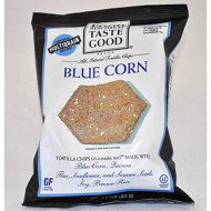 Food Should Taste Good Blue Corn Tortilla Chips, 1.5 Ounce - 24 Per Case.