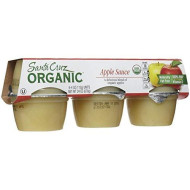Santa Cruz Organic Apple Sauce Cups, 4 oz, 6 ct