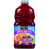 Langers 100% Juice With Vitamin C, Apple Grape, 64 Ounce (Pack Of 8)
