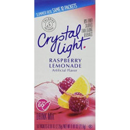 Crystal Light On The Go Raspberry Lemonade Drink Mix, 10-Packet Box (Pack Of 12)
